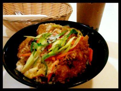 Pork Tonkatsu with Double Choco Milkshake at Bubble Tea_170513